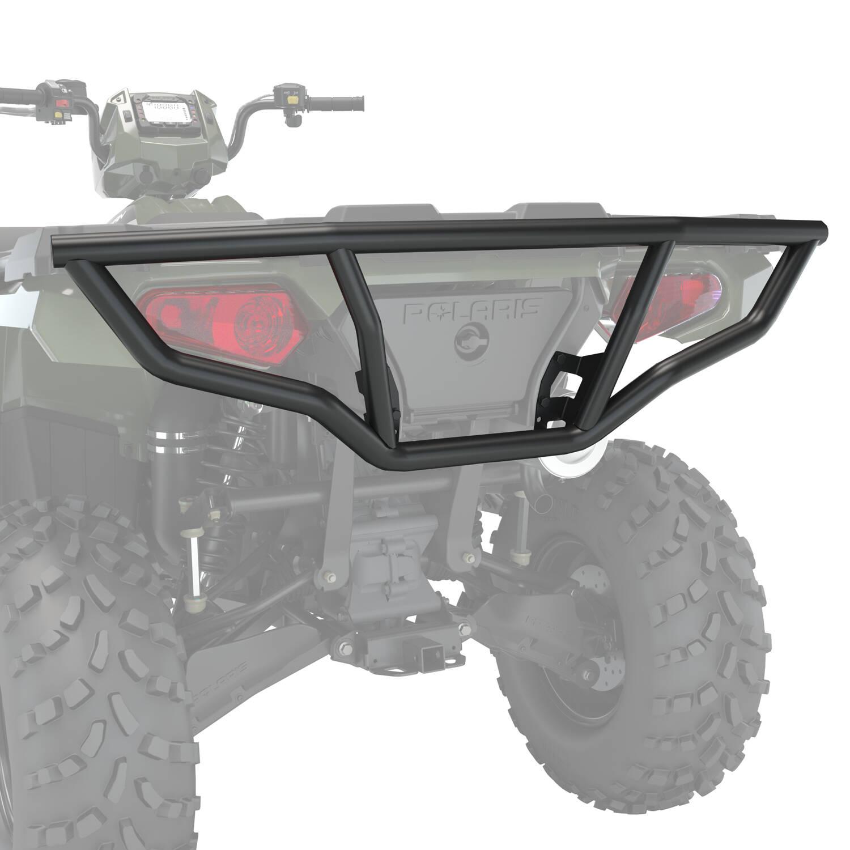 steel rear brushguard black