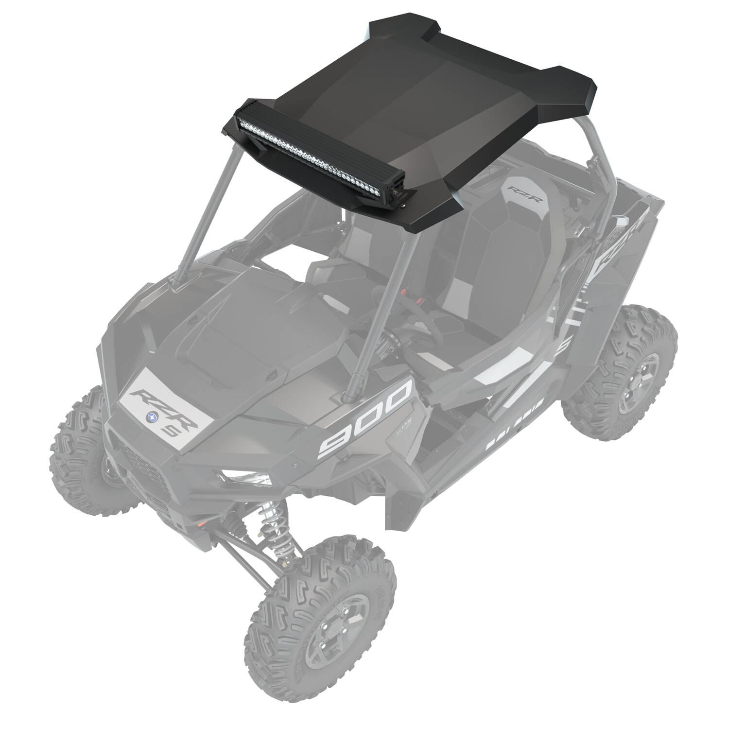 small resolution of mb quart extreme audio roof with led light bar black