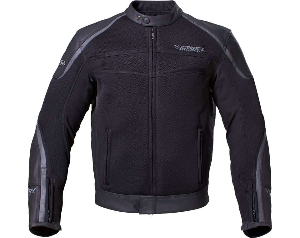 Mens leather mesh hybrid jacket black also victory motorcycles rh storectorymotorcycles