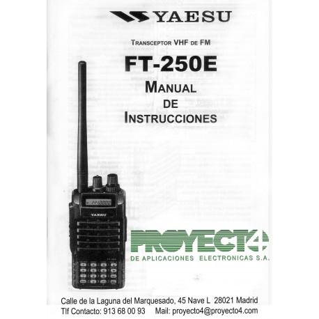 Manual de Instrucciones FT-250E, compra online