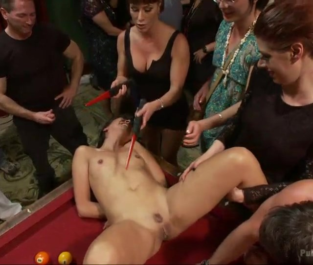 Electric Shock And Extreme Pussy Fingering Orgazm In Front Of A Lot Of People