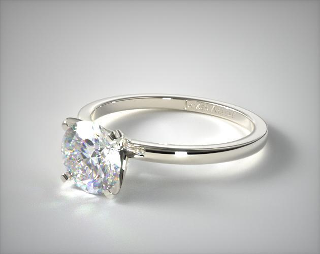 15mm Comfort Fit Engagement Ring 14K White Gold 17740W14