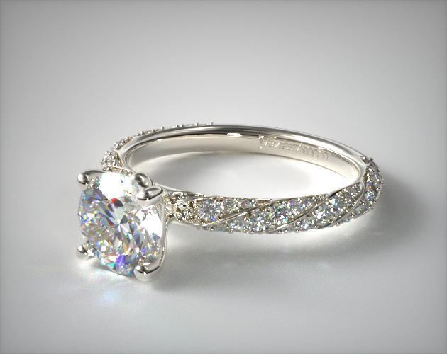 Twisted Pave Engagement Ring Platinum James Allen 17569P