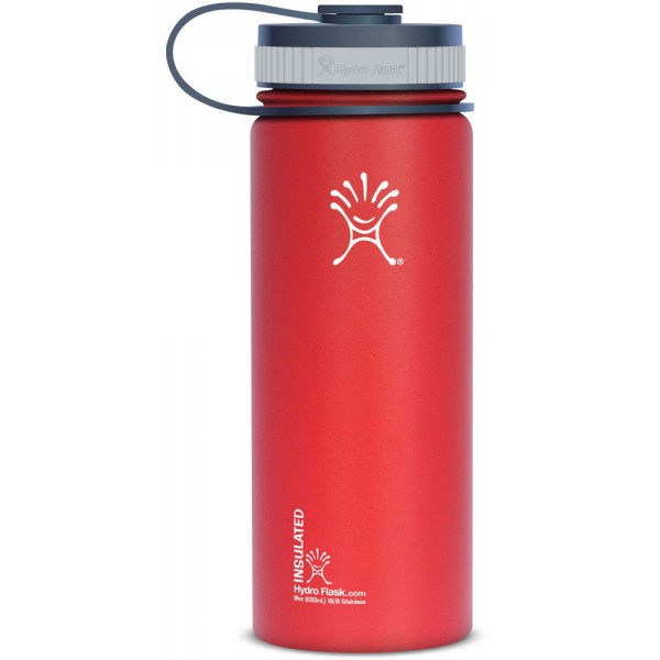 gourde inox isotherme goulot extra large ml rouge hydro flask