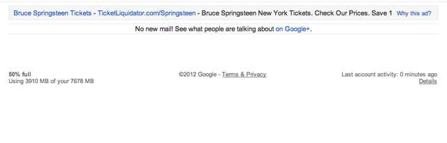 google promotes google plus on empty gmail inbox