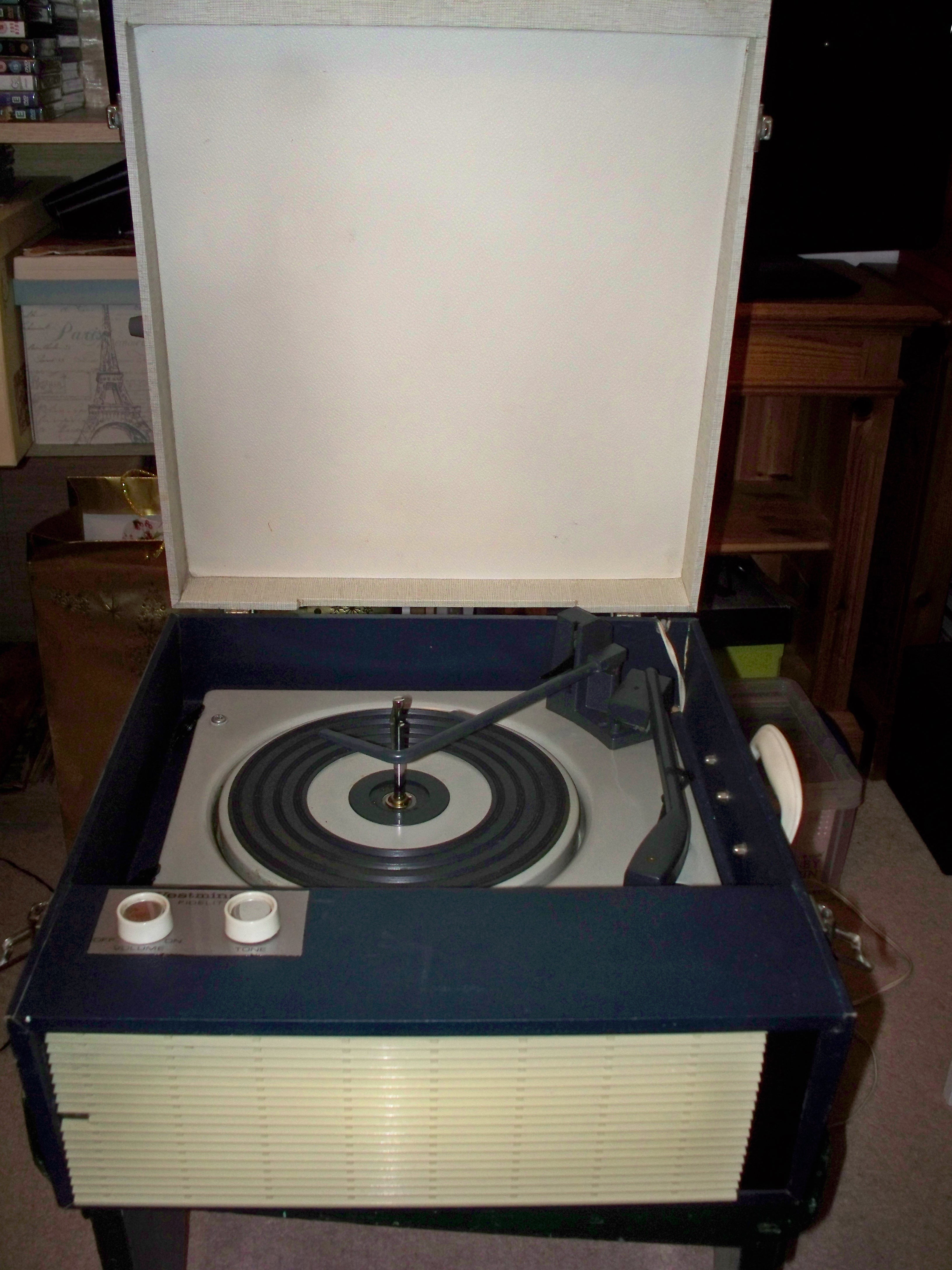 Westminster Fidelity portable record player