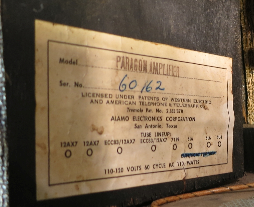 hight resolution of nvad 1963 alamo paragon amp head lot s of questions my les paul img