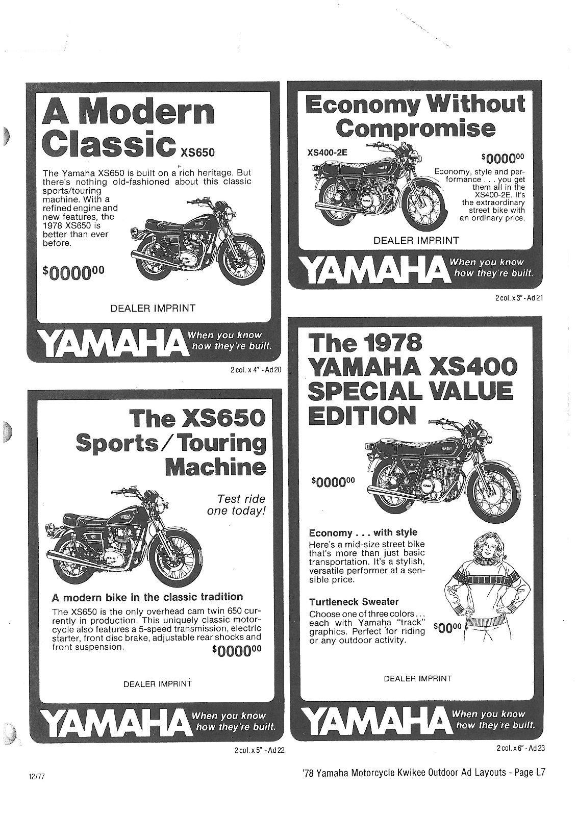 Yamaha Xs400 2e Wiring Diagram Yamaha Sr500 Wiring Diagram