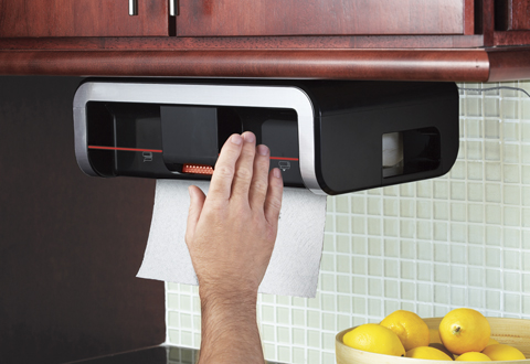 automatic paper towel dispenser for kitchen bosch set clean cut @ sharper image