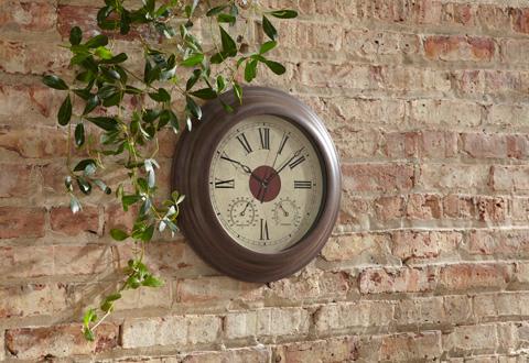 Solar Powered Outdoor Wall Clock  Sharper Image