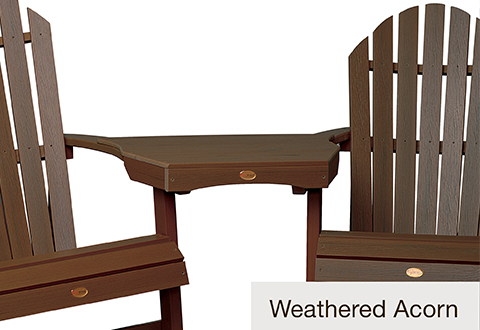 sharper image massage chairs hoveround power chair adirondack all weather connecting tete-a-tete table @