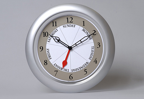 Day Of The Week Clock  Sharper Image