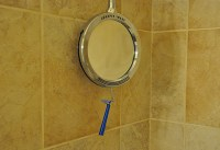 Heated Fog-Free Shower Mirror @ Sharper Image