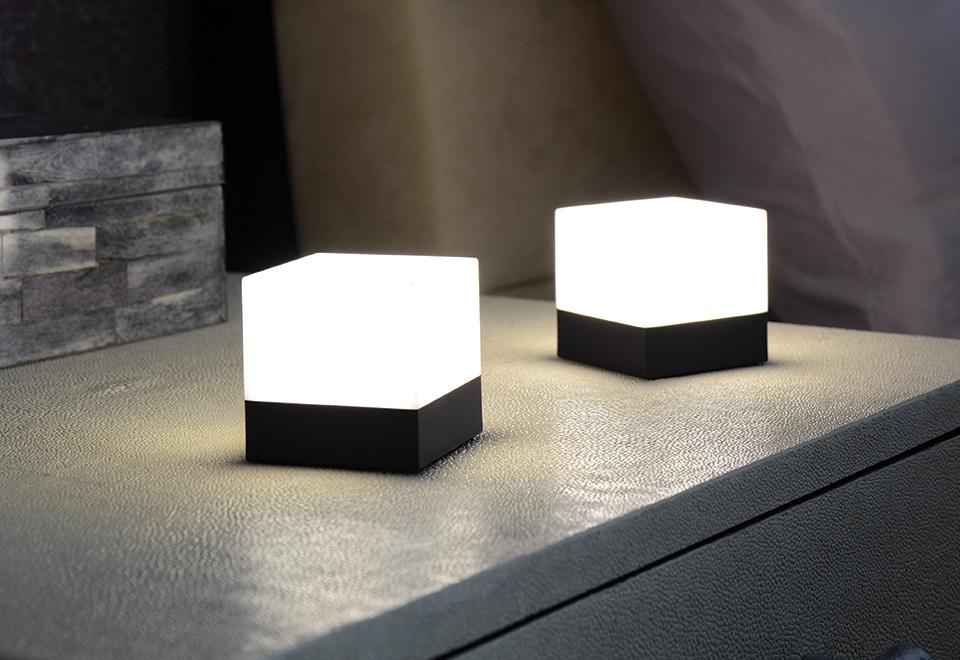 LED Cube Lights Set of 2  Sharper Image