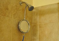 Heated Fog-Free Shower Mirror @ Sharper Image