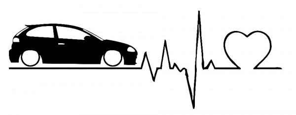 Autocolante com Batimentos cardíacos Seat Ibiza 6L