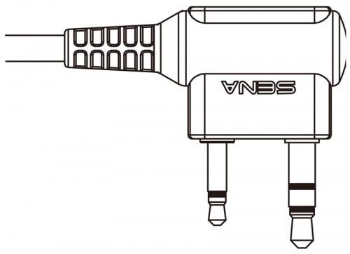 Kábel SR10 és Kenwood PMR rádiókhoz (iker csatlakozós)