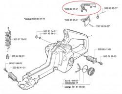 Блокоровка газ за моторна резачка Husqvarna 340, 345, 346