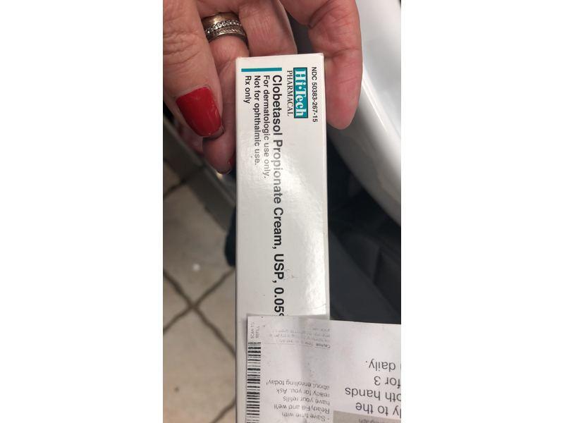 Clobetasol Propionate Cream USP 0.05% (RX) 15 Gm Hi ...