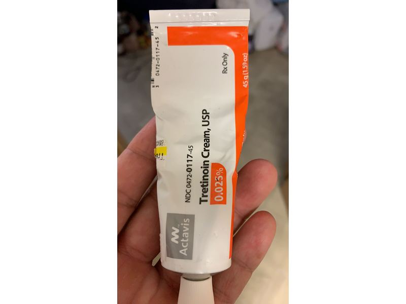 Tretinoin Cream USP 0.025% 45 g Actavis Ingredients and ...