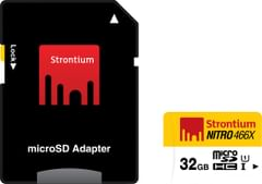 Strontium Memory Card 32GB MicroSDHC UHS-1 Class 10 NITRO 466X Card Best Price in India 2019. Specs & Review | Smartprix