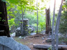You see many cabins in Icehouse Canyon. Some victims of fires and floods over the decades.