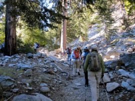 Hiking up Icehouse Canyon