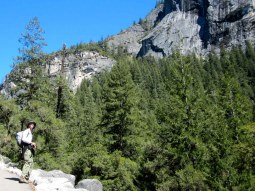Jeff A. on our way to Vernal Falls