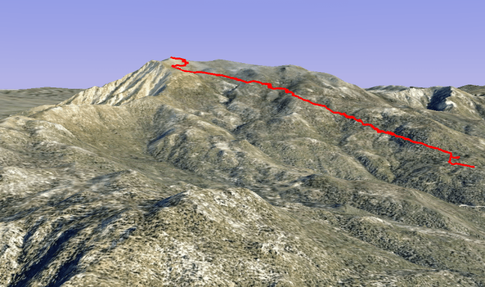 Marion Mountain trail to Mt. San Jacinto