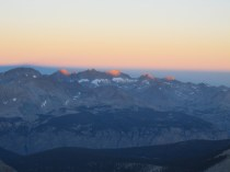Panoramic view from Mt. Whitney