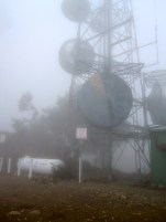 The array of telecom antennae on the summit