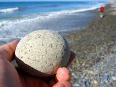 Typical stone on the beach at San Onofre
