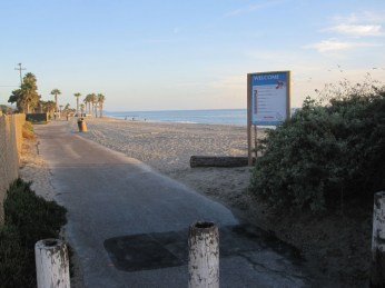 The southern boundary of Doheny and entrance to Capo Beach