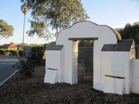 Historic arch marking entrance to Doheny campground area