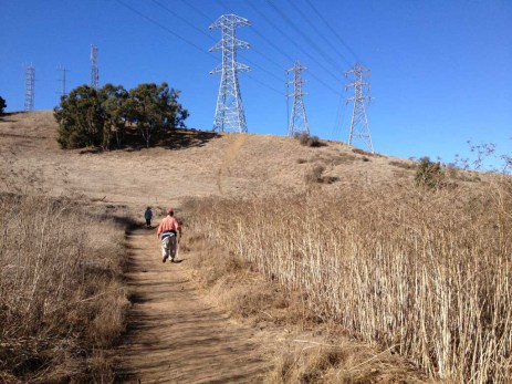 Climbing Schabarum trail
