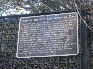 Old Los Angeles Zoo Sign