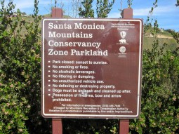 Santa Monica Mountains Conservancy Sign