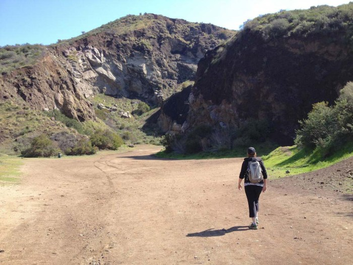 Approaching Bronson Cave