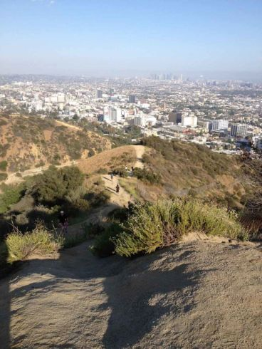 Views down the Hero Trail and over Los Angeles