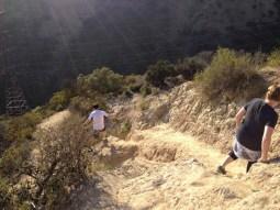 A steep downhill