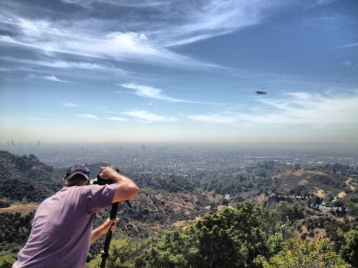 Space Shuttle Endeavor fly-by of Griffith Park