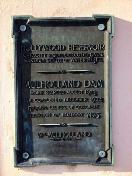 Mulholland Dam plaque