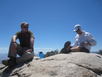 Lunch break at the summit of Whale Peak