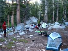 Camp at Upper Lyell Canyon