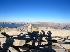 Shadows and the Shelter atop Mount Whitney