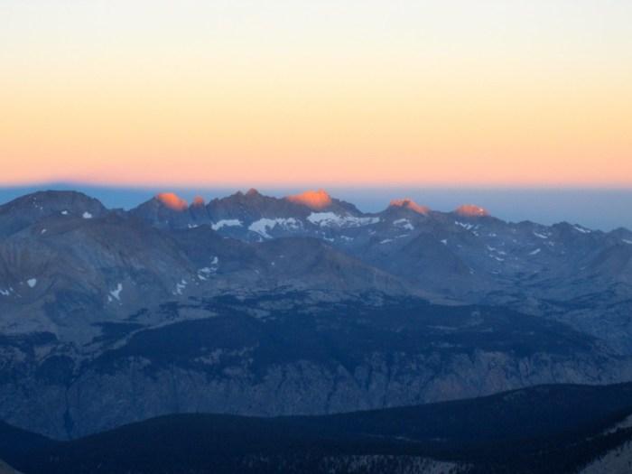 Sun-kist Mountain Peaks