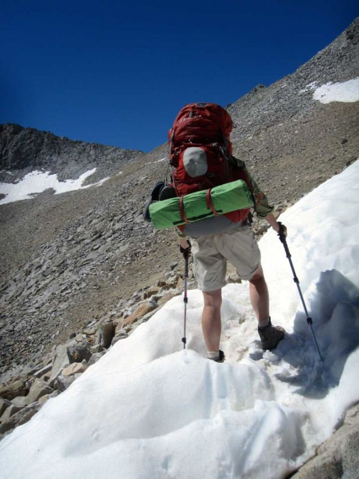 Snow patches on Forester Pass