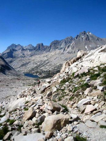 Climbing Mather Pass