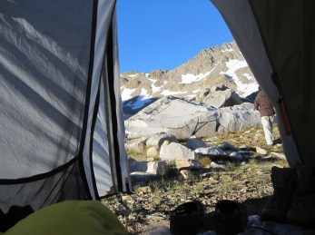 Looking out the Tent