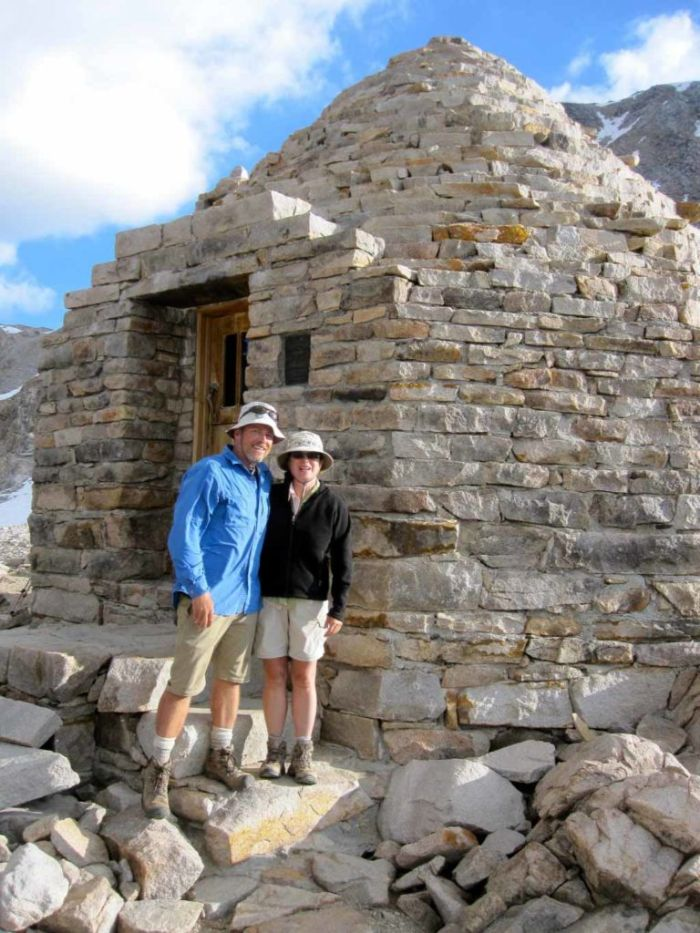 Jeff & Joan at Muir Hut